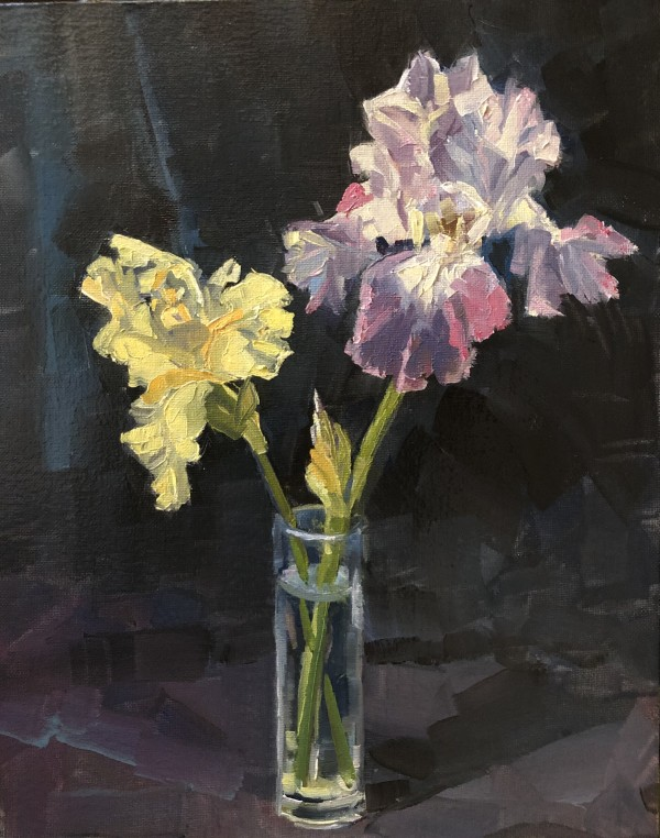 Two Irises by Elaine Lisle