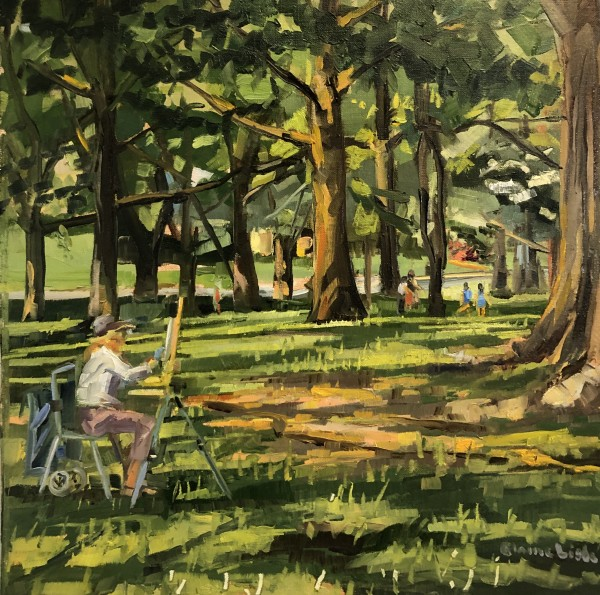 Ashbridge Park Painter by Elaine Lisle