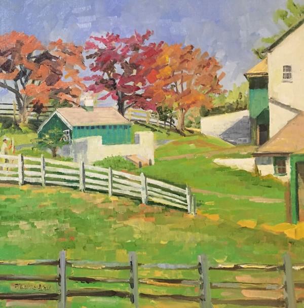 Green Barns at Wyeth Farm by Elaine Lisle
