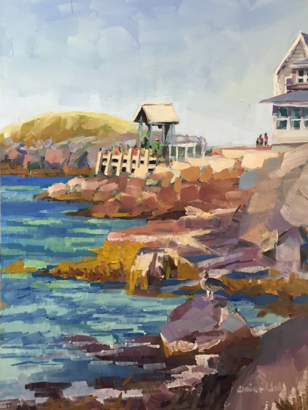 Ferry Dock and Rocks by Elaine Lisle