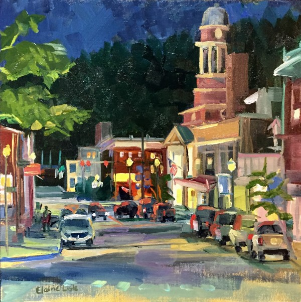 Night Saranac Lake by Elaine Lisle