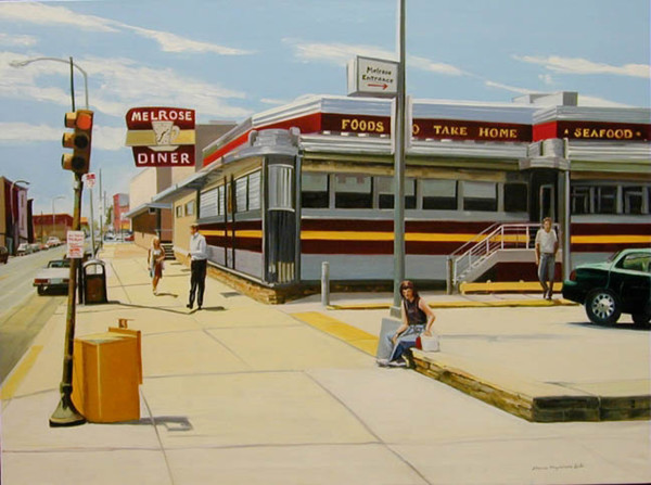 Hot Day at the Melrose Diner by Elaine Lisle