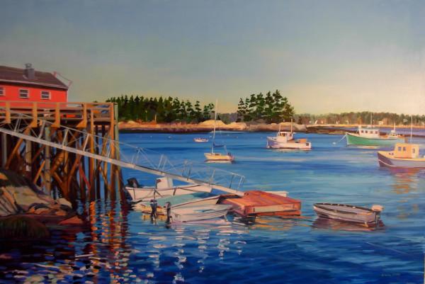 Fishing Cove in Maine by Elaine Lisle