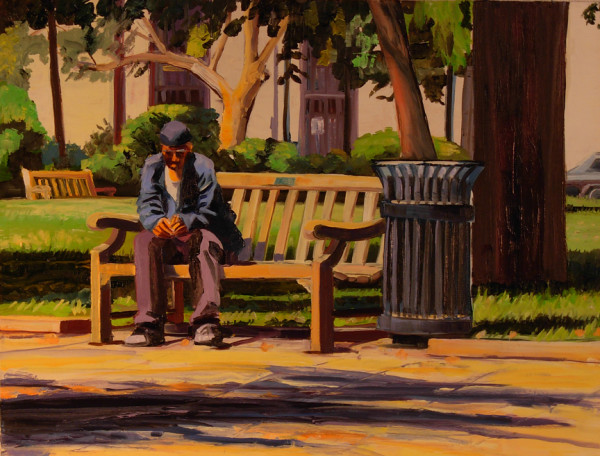 man on the Bench by Elaine Lisle