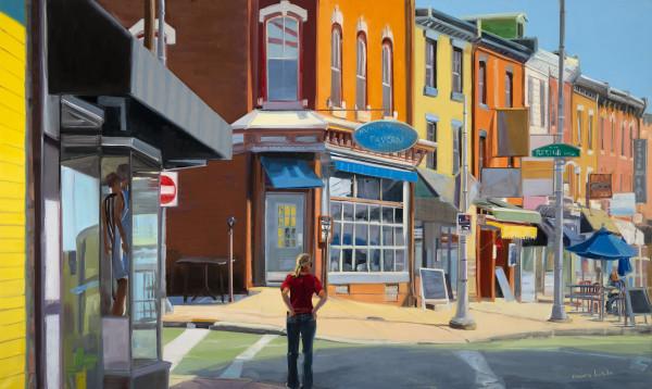 Manayunk corner by Elaine Lisle