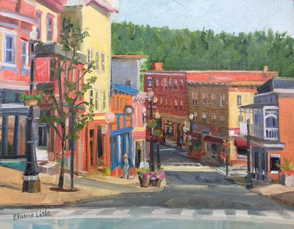 Morning main St and Broadway by Elaine Lisle