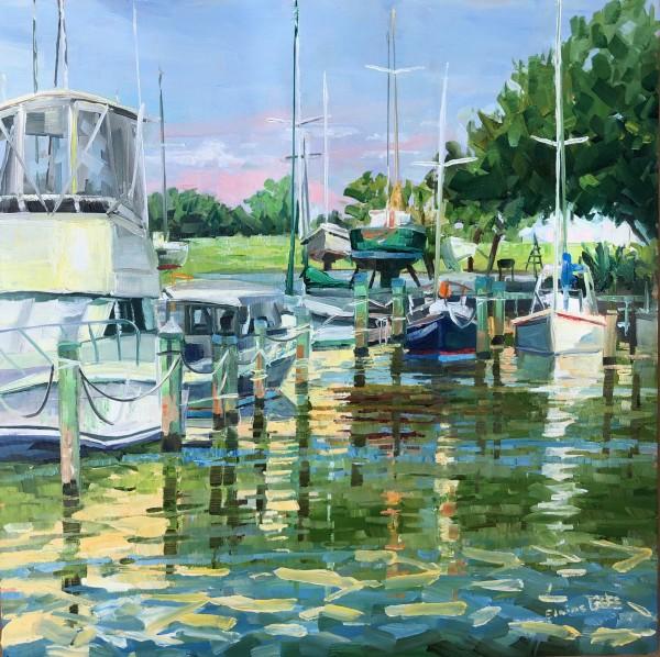 Morning Marina Knapps Narrows by Elaine Lisle