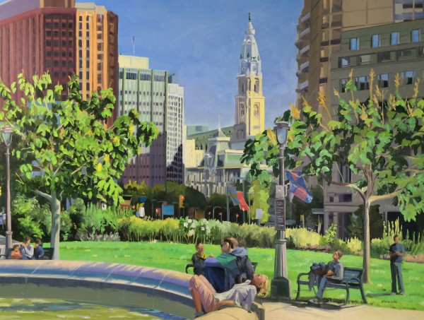 October Sun in the City by Elaine Lisle
