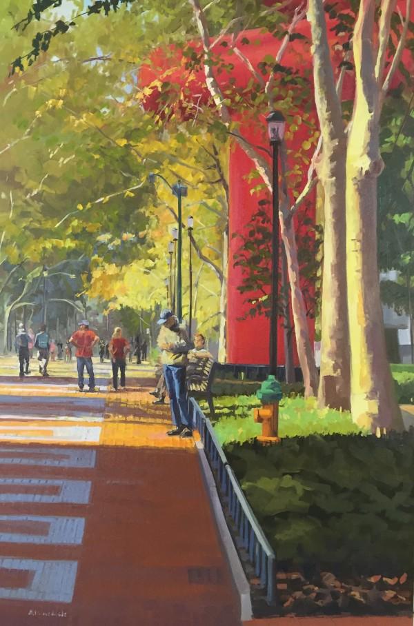 On Locust Walk by Elaine Lisle