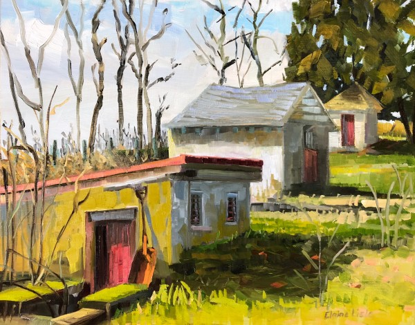 Morning Light Outbuildings by Elaine Lisle