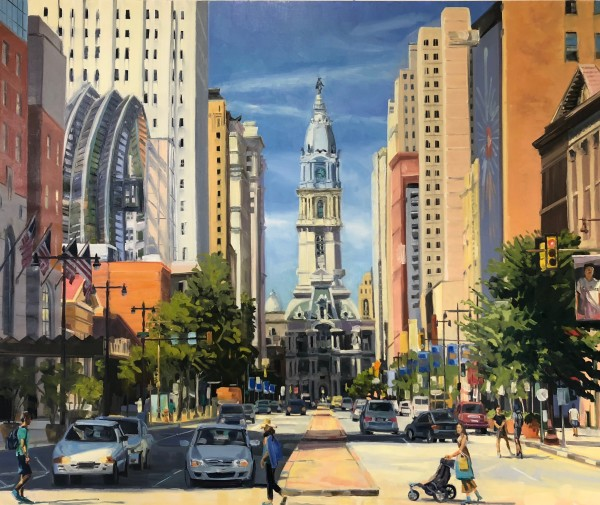 July on Broad Street by Elaine Lisle