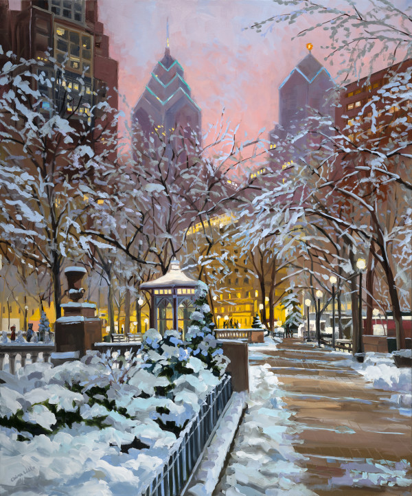 Rittenhouse Snow by Elaine Lisle