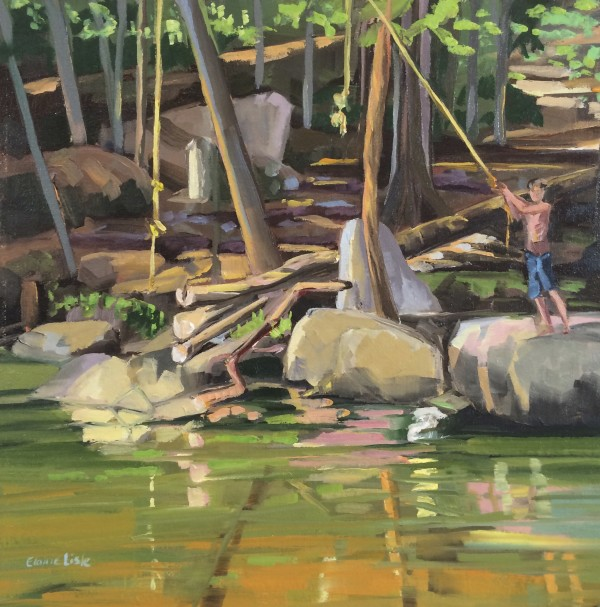 Rope Swing Reflections by Elaine Lisle