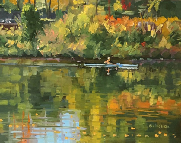 Sculler on the Schuylkill by Elaine Lisle