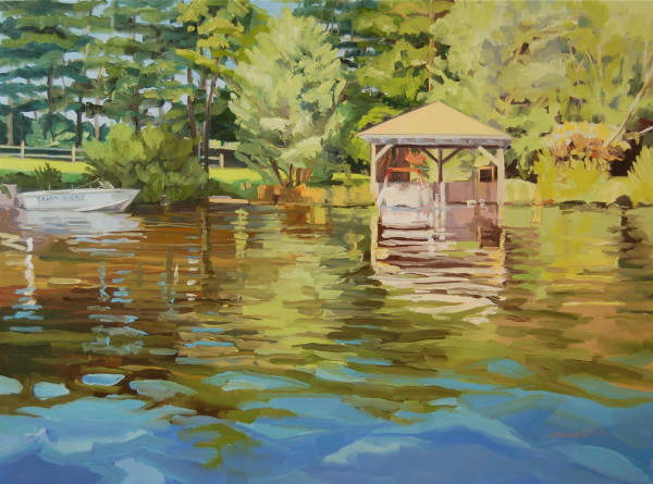 Squam Boathouse by Elaine Lisle
