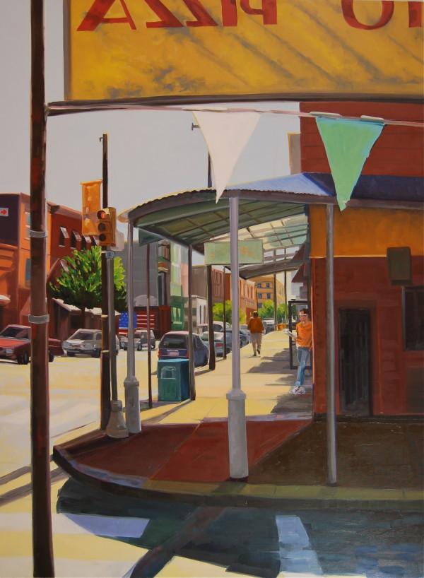 Street Corner Shadows by Elaine Lisle