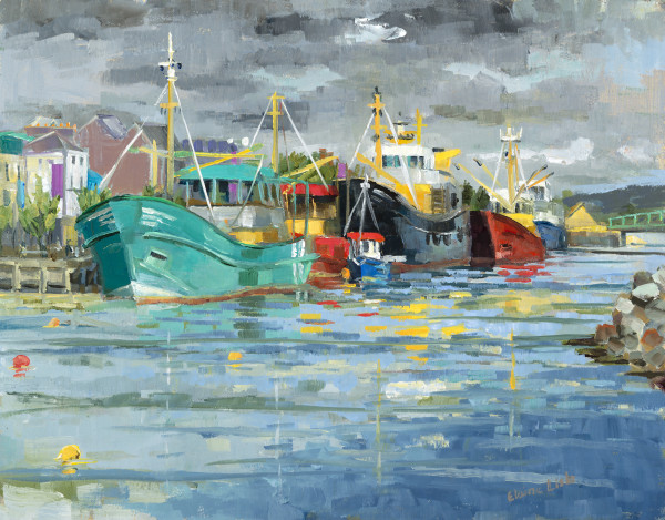 Wexford Fishing Boats by Elaine Lisle