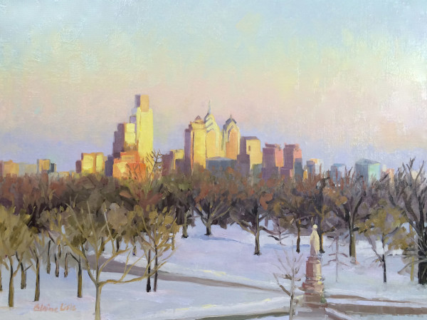 Winter Sun on the City by Elaine Lisle