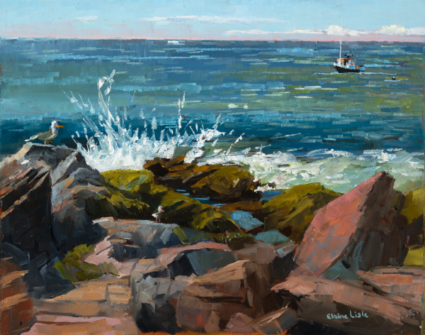Low Tide Lobster Cove by Elaine Lisle