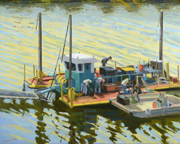 Dredger in the Schuylkill by Elaine Lisle