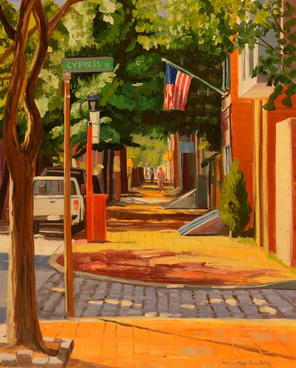 Cypress at 4th streeet by Elaine Lisle