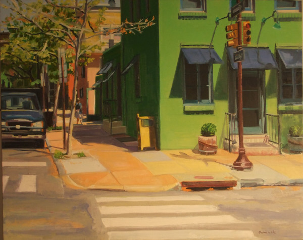 Green Building on Pine Street by Elaine Lisle