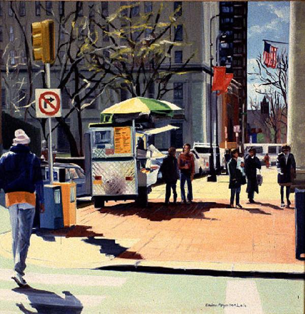 Hotdog stand on 6th Street by Elaine Lisle