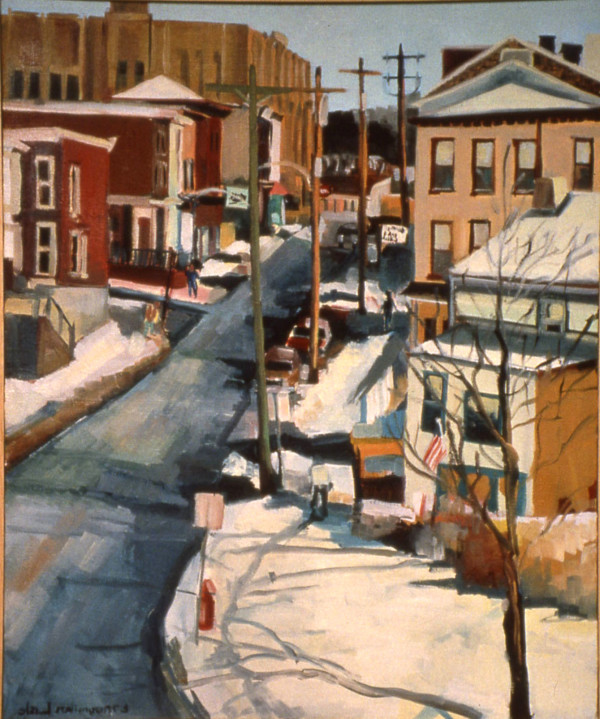 Winter Umbria Street by Elaine Lisle