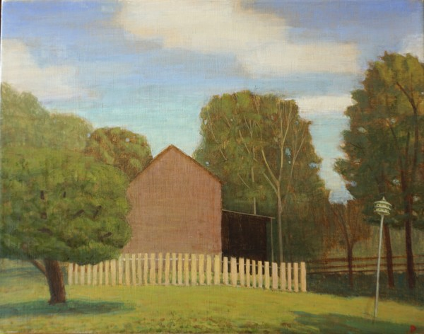 Summer Afternoon, Barn and Birdhouse