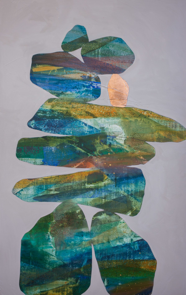 Tall Cairns II by Ruth Fromstein