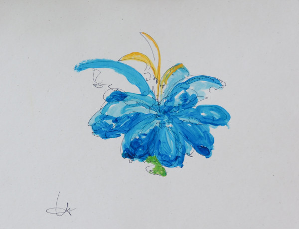 blue flower by Tracy Walstead