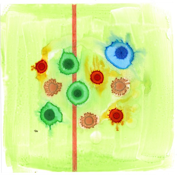 happy green abstract by Tracy Walstead