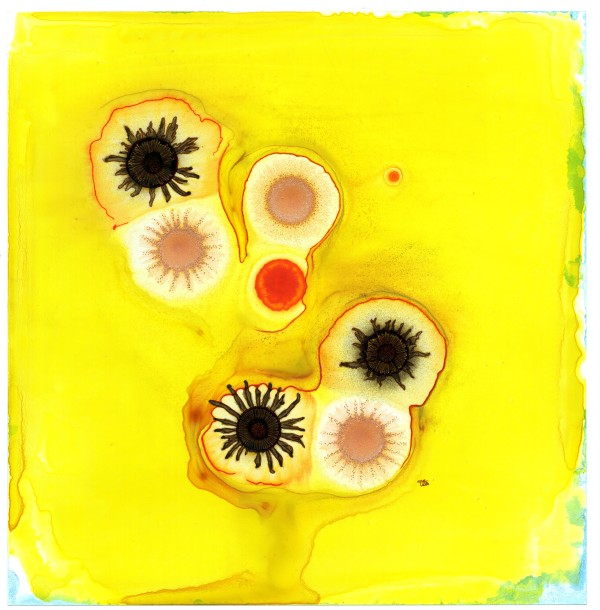happy yellow abstract by Tracy Walstead