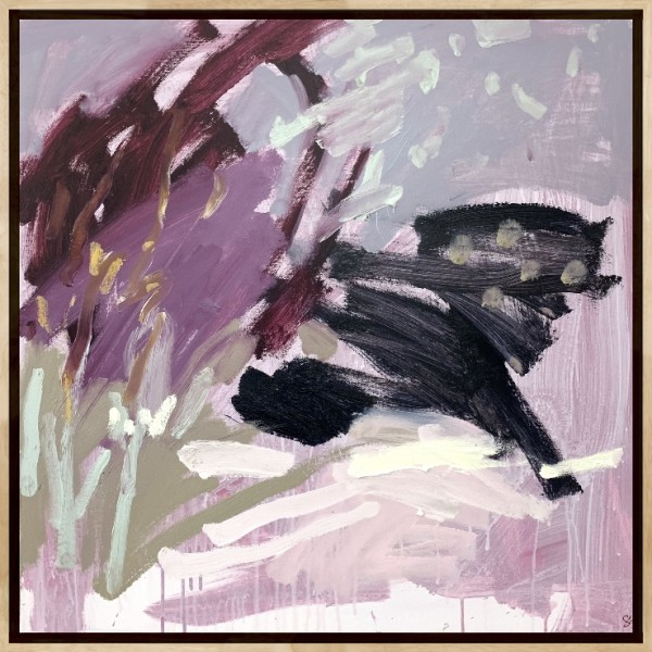 Call Of The Wild - Framed in Oak by Llewellyn Skye