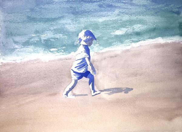 Boy on Beach by Patti Claassen
