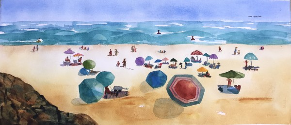 Day at the Beach I by Patti Claassen
