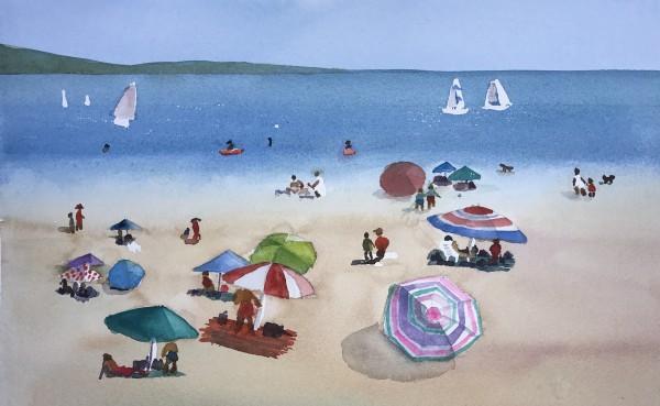 Day at Beach II by Patti Claassen