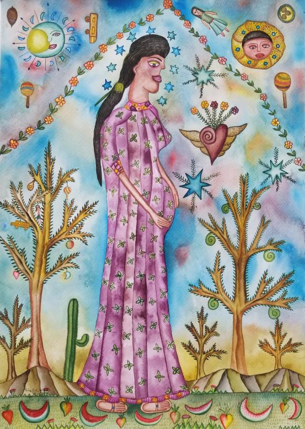 Mujer de La Esperanza / Woman in Waiting by Pedro Cruz Pacheco