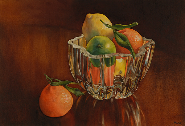 Glass Bowl by Marla Greenfield