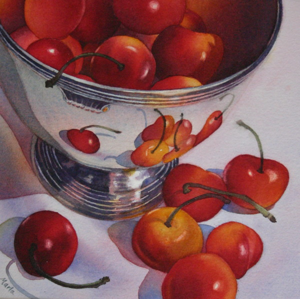 Cherries and Silver by Marla Greenfield