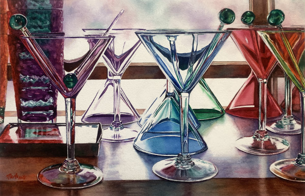 Martini Glasses by Marla Greenfield