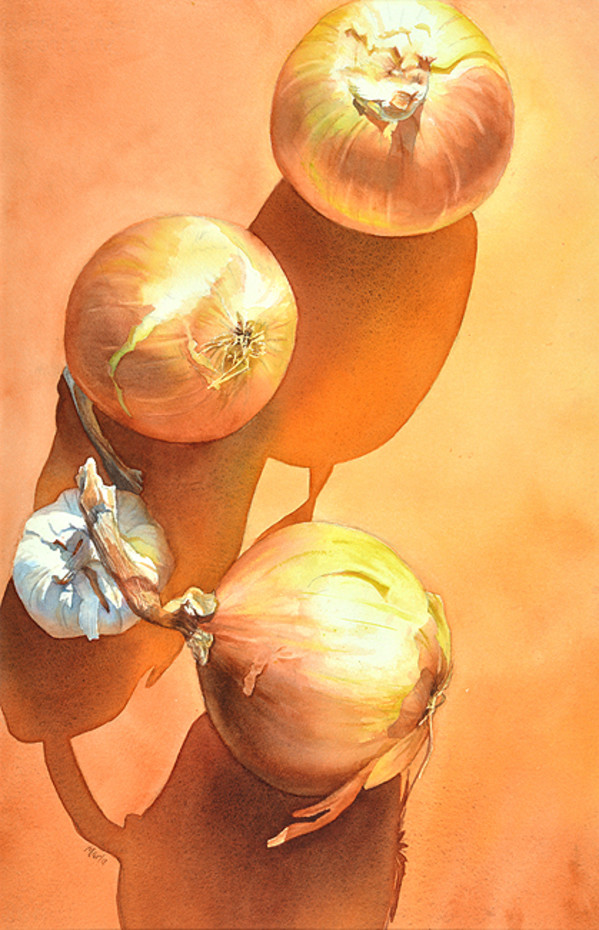 Birds Eye Onions by Marla Greenfield