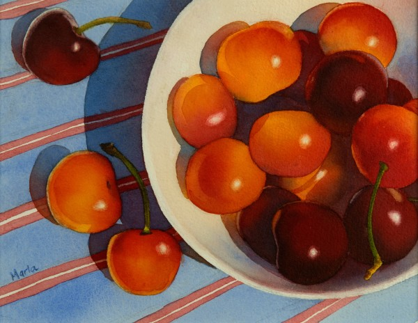 Cherries Blue by Marla Greenfield