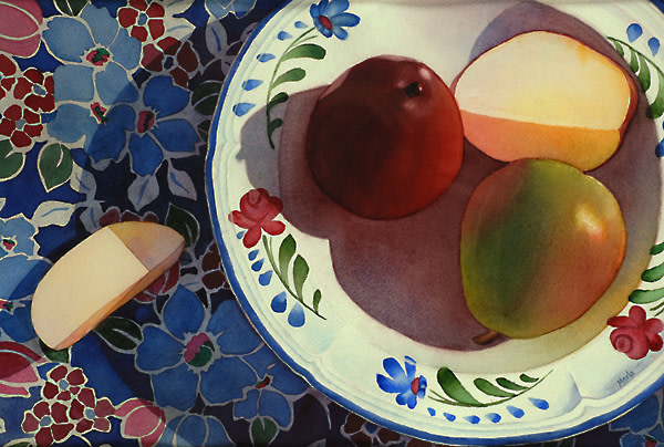 Pared Pear and Pears by Marla Greenfield