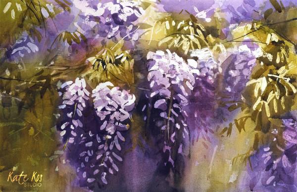 Violet Jungle by Kate Kos