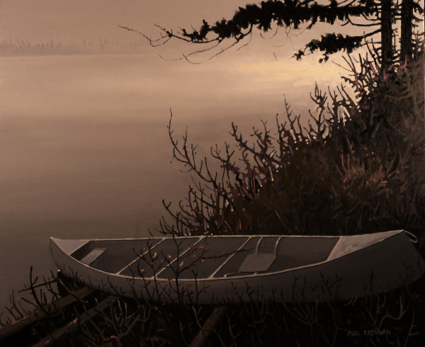 Mist Rising, Whitesand Lake, Tobeatic Wilderness, Nova Scotia by Mark Brennan