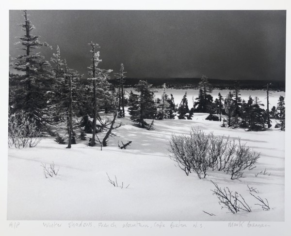 Winter Shadows, French Mountain, Cape Breton, NS by Mark Brennan