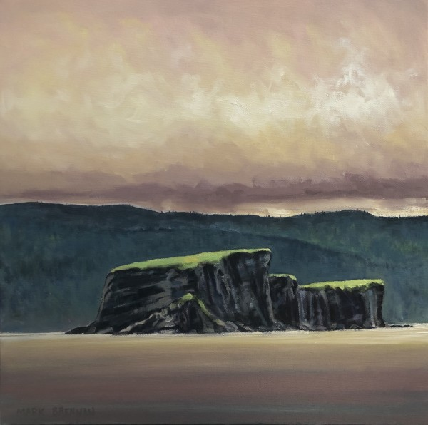 Rain, Bird Islands, Cape Breton Nova Scotia by Mark Brennan