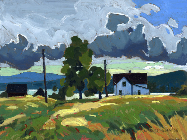 Cloudy Day, Big Island, Pictou County, Nova Scotia by Mark Brennan