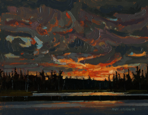 Dusk The Alder Grounds, Liscomb River, Nova Scotia by Mark Brennan